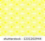 yellow flower seamless pattern | Shutterstock . vector #1231202944