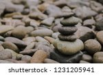 stack of pebble stone or zen... | Shutterstock . vector #1231205941