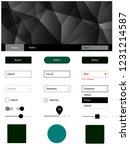 dark green vector web ui kit in ...