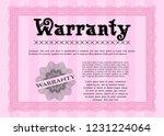 pink retro warranty template.... | Shutterstock .eps vector #1231224064