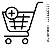 add product  add shopping... | Shutterstock .eps vector #1231227334