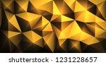 vector polygon abstract 3d... | Shutterstock .eps vector #1231228657