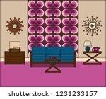 room in flat design. retro... | Shutterstock . vector #1231233157