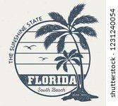florida south beach   vintage... | Shutterstock .eps vector #1231240054