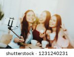 girlscelebrate 8 march with...   Shutterstock . vector #1231240231