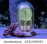 clock on a table at new year's...   Shutterstock . vector #1231245451