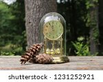 outdoor scene with clock on a...   Shutterstock . vector #1231252921