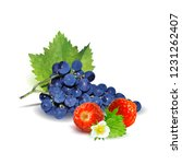 fresh grapes  nutritious and... | Shutterstock .eps vector #1231262407