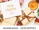 merry christmas and happy new... | Shutterstock . vector #1231265521