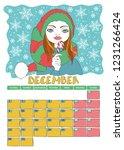 december. calendar 2019. month. ... | Shutterstock .eps vector #1231266424