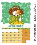 november. calendar 2019. month. ... | Shutterstock .eps vector #1231266427