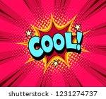 superhero expression for comic... | Shutterstock .eps vector #1231274737