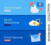 social media application banner ... | Shutterstock .eps vector #1231279534