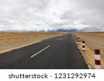 snow mountain road china  | Shutterstock . vector #1231292974
