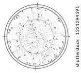 astrological celestial map of... | Shutterstock .eps vector #1231294591