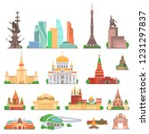 sights of moscow vector... | Shutterstock .eps vector #1231297837