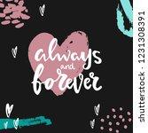 hand written lettering quote... | Shutterstock .eps vector #1231308391