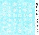set of white snowflakes... | Shutterstock .eps vector #1231310587