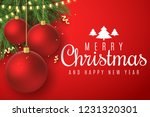 christmas greeting card.... | Shutterstock .eps vector #1231320301