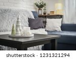 christmas decorations with... | Shutterstock . vector #1231321294