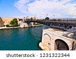 aragonese castle of taranto and ... | Shutterstock . vector #1231322344