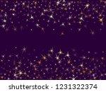gold stars confetti on dark... | Shutterstock .eps vector #1231322374