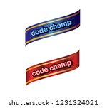code champ label  blue cyan red ... | Shutterstock . vector #1231324021