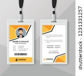 stylish id card template with...   Shutterstock .eps vector #1231331257