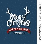 simple merry christmas card... | Shutterstock .eps vector #1231333021