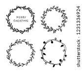 hand drawn christmas round... | Shutterstock .eps vector #1231336924