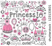 hand drawn sketchy fairy tale... | Shutterstock .eps vector #123133831