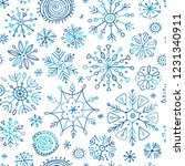 hand drawn snowflakes  seamless ...   Shutterstock .eps vector #1231340911