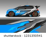 hatchback racing car wrap... | Shutterstock .eps vector #1231350541