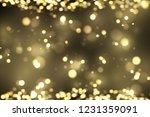 golden particles background.... | Shutterstock .eps vector #1231359091