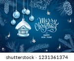 merry christmas and happy new... | Shutterstock .eps vector #1231361374