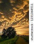 Beautiful Mammatus Clouds At...
