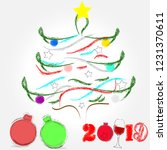 merry christmas and happy new...   Shutterstock .eps vector #1231370611