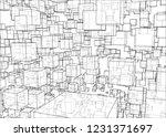 vector abstract boxes...   Shutterstock .eps vector #1231371697