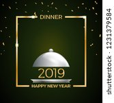 2019  new year's eve dinner ... | Shutterstock .eps vector #1231379584