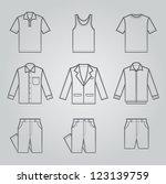 Men Clothing Icons : NO.1 - stock vector