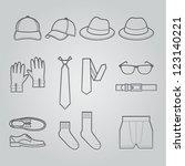 Men Clothing Icons : NO.2 - stock vector
