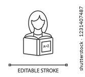 reading linear icon. basic... | Shutterstock .eps vector #1231407487