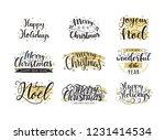mega set of christmas hand... | Shutterstock .eps vector #1231414534