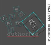 authorize concepts web... | Shutterstock .eps vector #1231419817