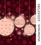 2d illustration. snowflake... | Shutterstock . vector #1231427281