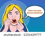 illustration of a teenage girl...   Shutterstock .eps vector #1231429777