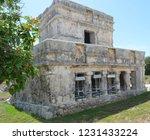 ancient ruin buildings at tulum ... | Shutterstock . vector #1231433224