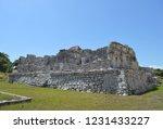 ancient ruin buildings at tulum ... | Shutterstock . vector #1231433227