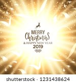 festive christmas golden... | Shutterstock .eps vector #1231438624