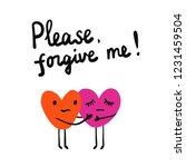 please forgive me lettring... | Shutterstock .eps vector #1231459504